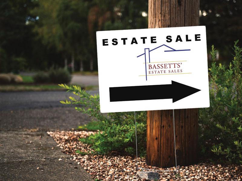 Sale Sign Bassetts' Estate Sales